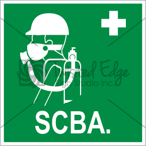 Safety Sign SCBA Small