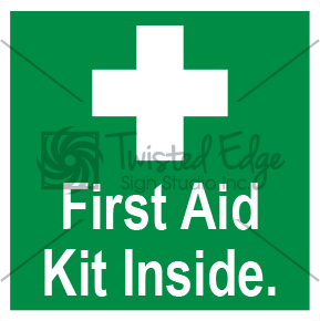 Safety Sign First Aid Kit Inside Small