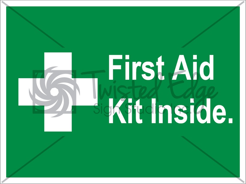 Safety Sign First Aid Kit Inside