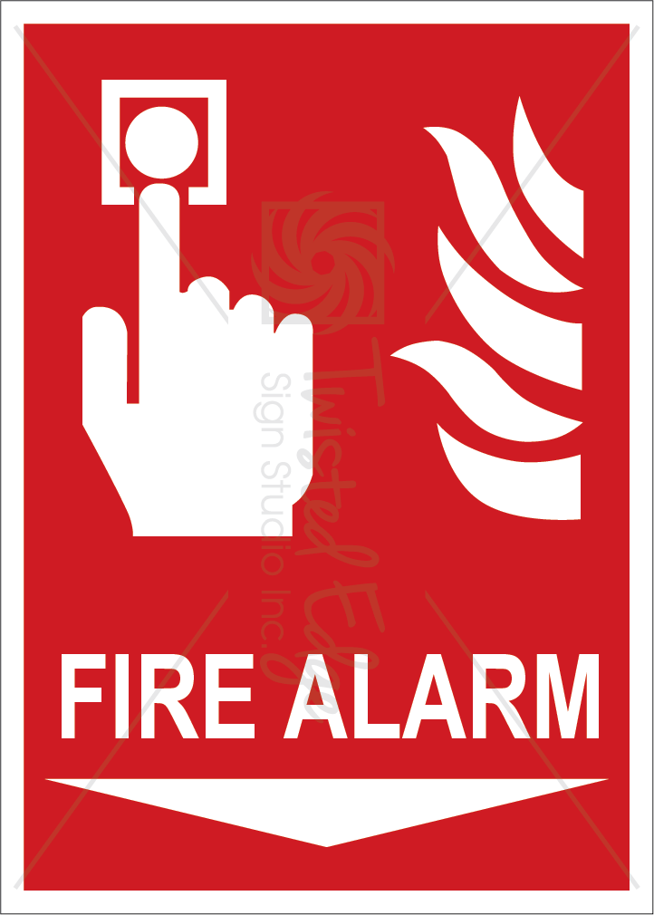 Safety Sign Fire Alarm Below