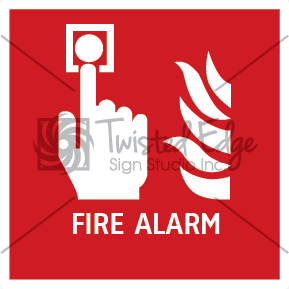 Safety Sign Fire Alarm Small