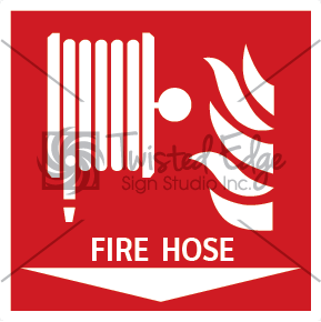 Safety Sign Fire Hose Below Small