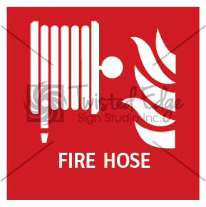 Safety Sign Fire Hose Small
