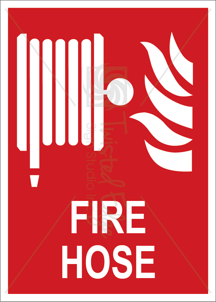 Safety Sign Fire Hose