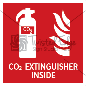 Safety Sign CO2 Extinguisher Inside Small