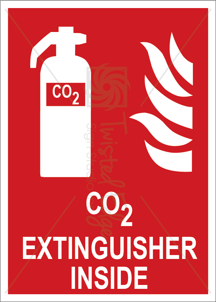 Safety Sign CO2 Extinguisher Inside