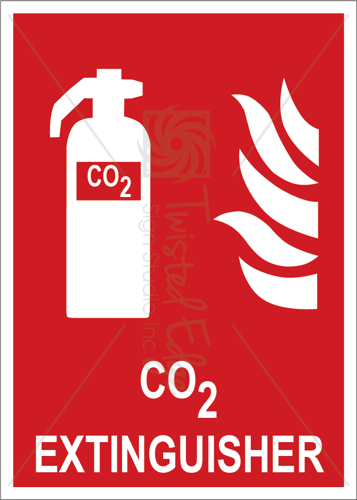 Safety Sign CO2 Extinguisher