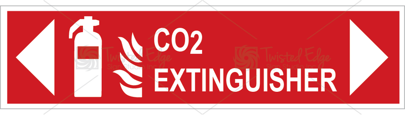 Safety Sign CO2 Extinguisher Left Right
