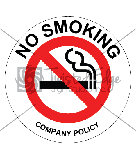 Safety Sign No Smoking Company Policy