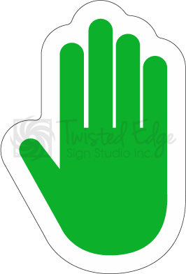 Hard Hat Decal Green Hand