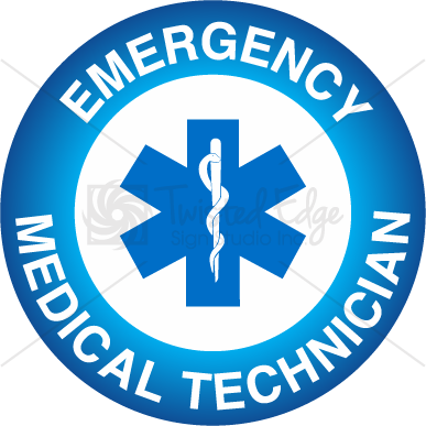Hard Hat Decal Emergency Medical Technician