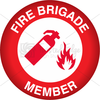 Hard Hat Decal Fire Brigade Member