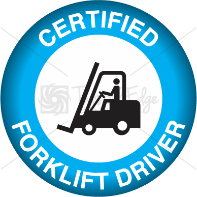Hard Hat Decal Certified Forklift Driver