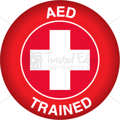Hard Hat Decal AED Trained