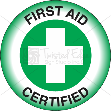 Hard Hat Decal First Aid Certified