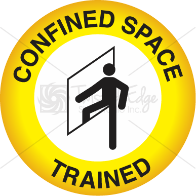 Hard Hat Decal Confined Space Trained