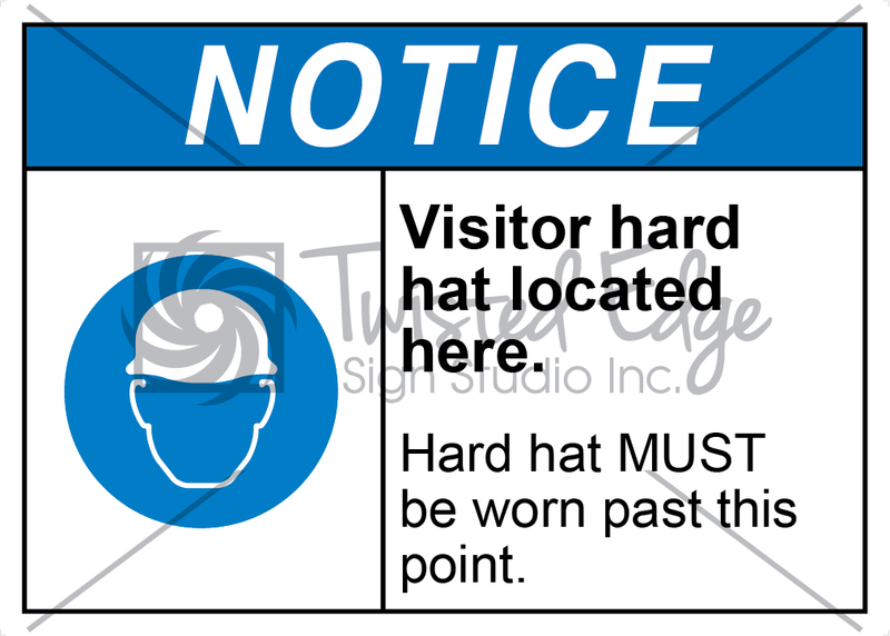 Safety Sign Notice Visitor Hard Hat