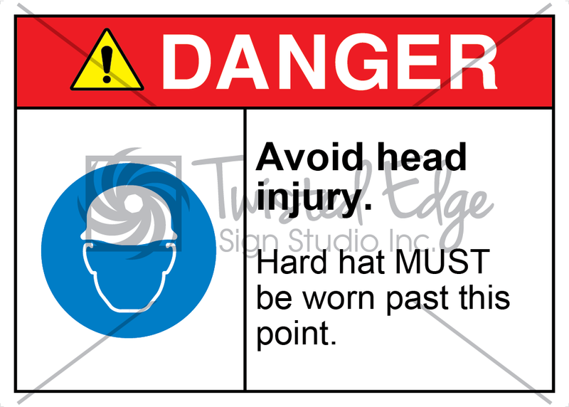 Safety Sign Danger Avoid Head Injury