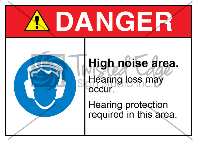 Safety Sign Danger High Noise Area