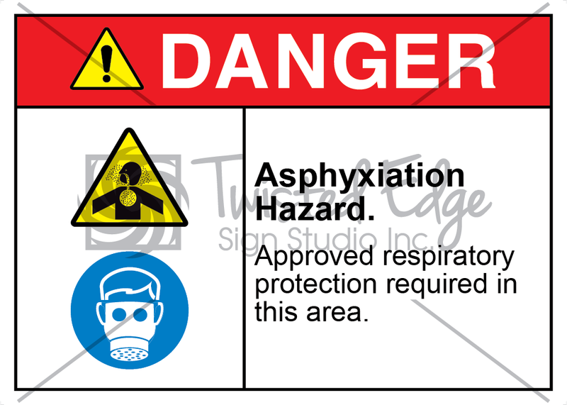 Safety Sign Danger Asphyxiation Hazard