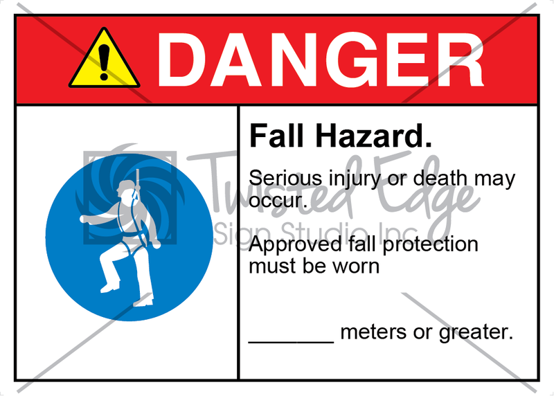 Safety Sign Danger Fall Hazard