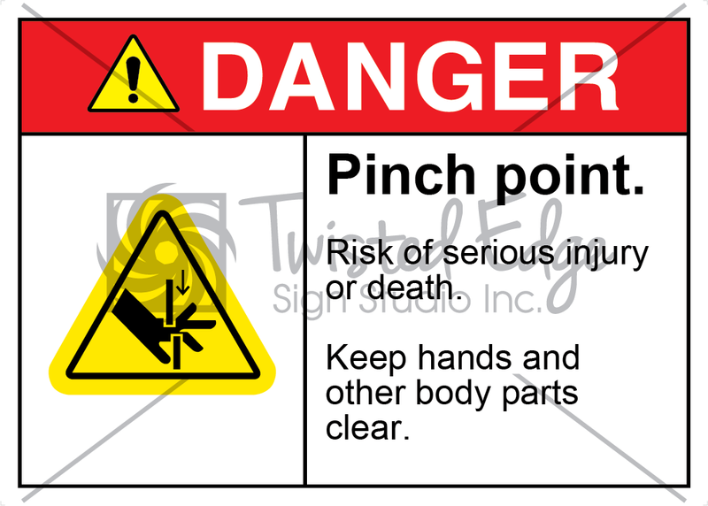 Safety Sign Danger Pinch Point