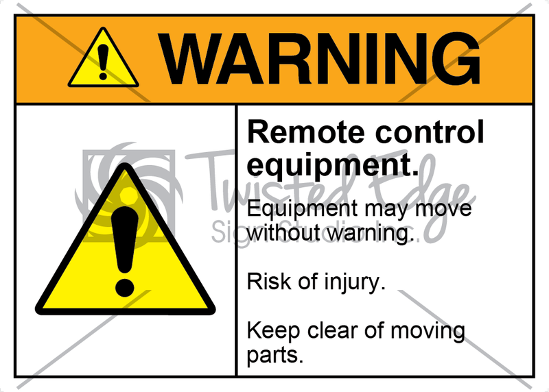 Safety Sign Warning Remote Control Equipment