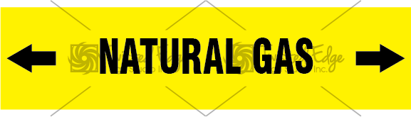 Pipe Marker Yellow Natural Gas