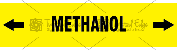 Pipe Marker Yellow Methanol