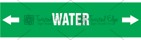 Pipe Marker Green Water
