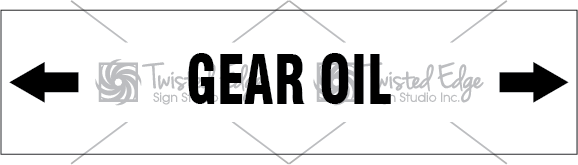 Pipe Marker White Gear Oil