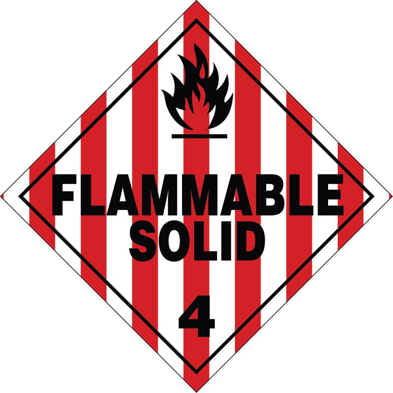TDG Class 4.1 Flammable Solid
