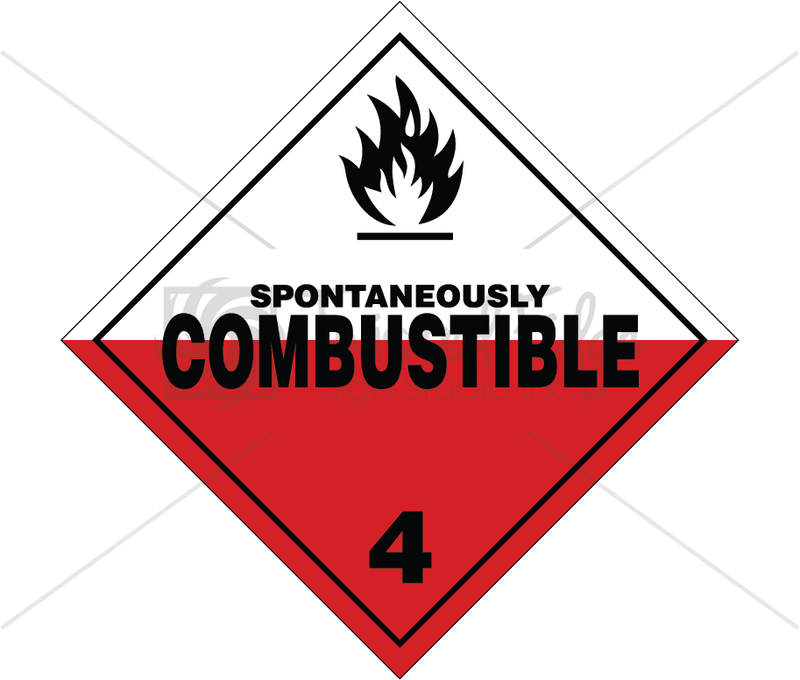 TDG Class 4.2 Spontaneously Combustible