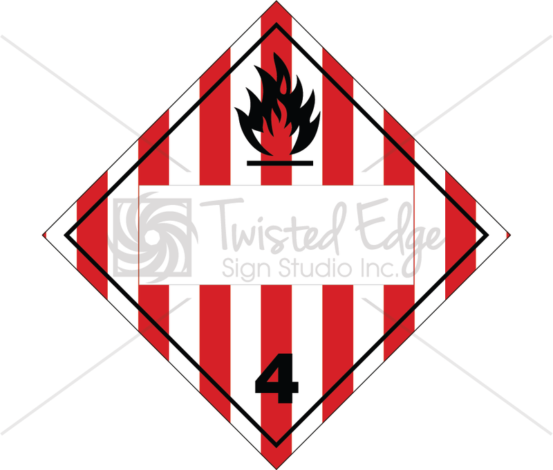 TDG Flammable Solids Class 4.1 Blank