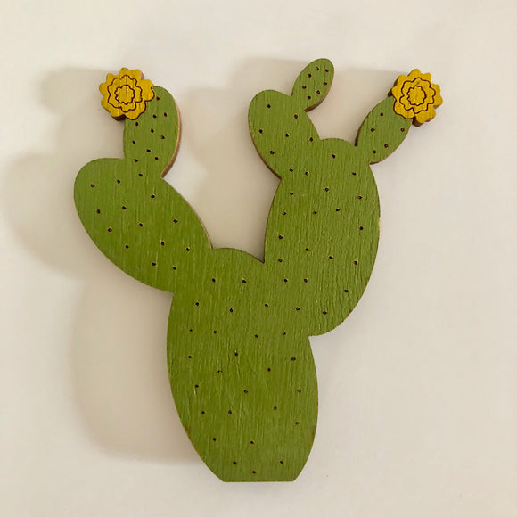 Prickly Pear with Yellow Flower