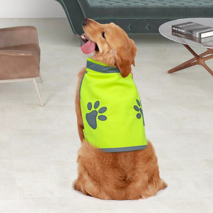 Reflective High Visibility Paw Dog Vest