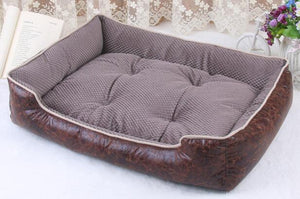 Luxury Leather Beds With Removable Mattress