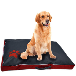 Waterproof cushion with Paw Print Design