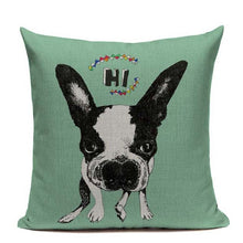 Load image into Gallery viewer, Boston Terrier Luxury Cushion Pillow Case