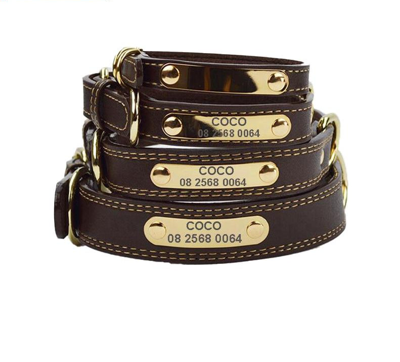 Leather Engraved Dog Collar