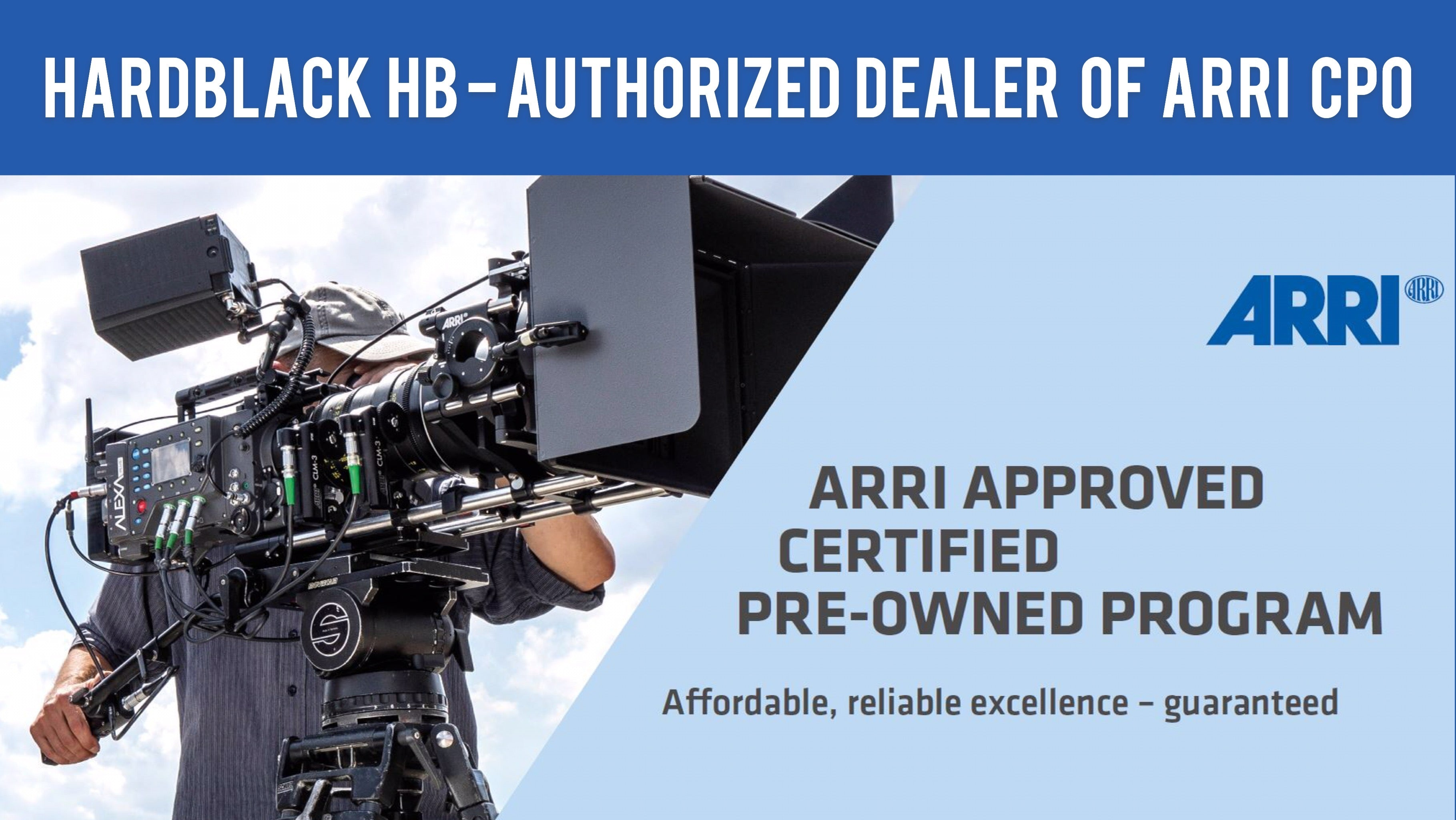 Arri CPO program with HARDBLACK HK