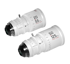 Pictor 20-55mm and 50-125mm T2.8 Super35 Zoom Lens Bundle (PL and EF Mount, White)
