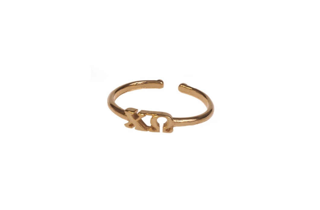 Chi Omega Adjustable Ring PREORDER