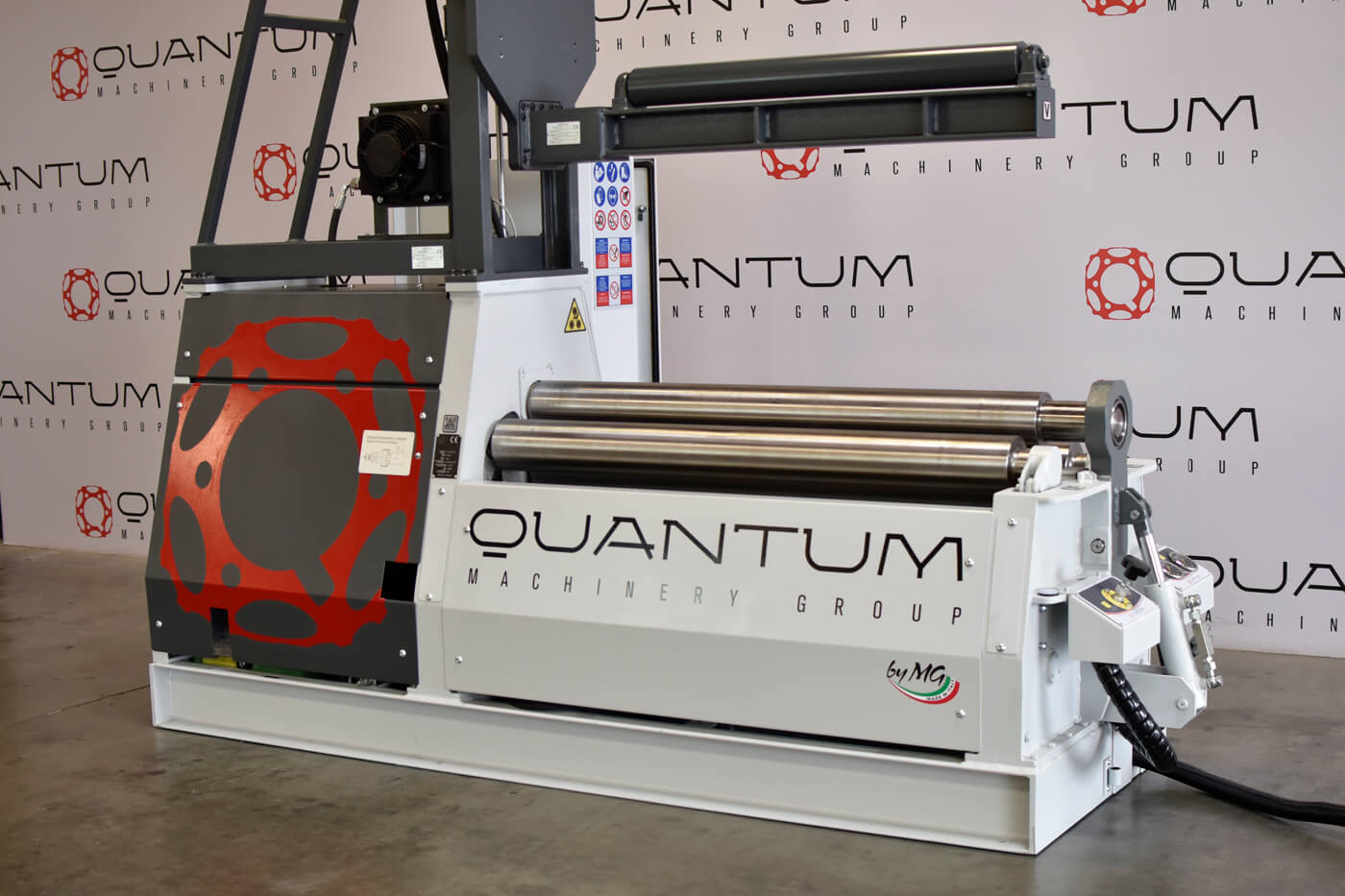 "M1206P: 4' x 0.230"" Thick - 4 Roll Plate Bender Equipped with the Quantum CNC EVO Control and Vertical Top Support"