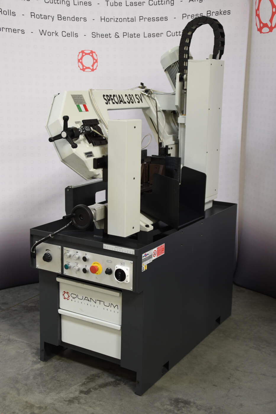 "S 391 SV: Semi-Automatic, Double-Column Band Saw with Variable Speed Inverter (11-3/4"" Round Tube Capacity)"
