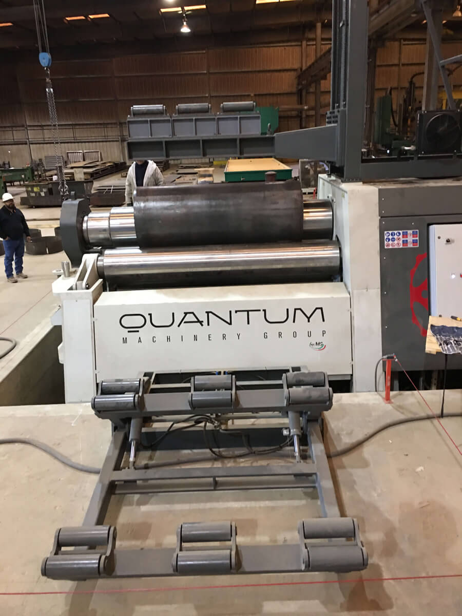"M3065I - 10 FOOT X 2.50"" 4 ROLL PLATE BENDER"