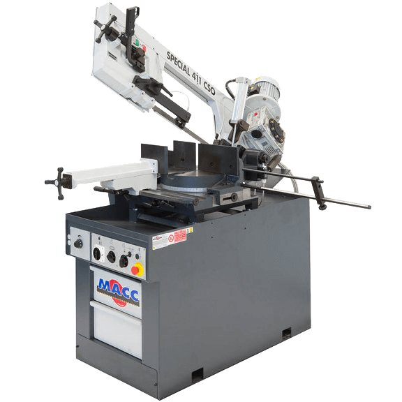 "S 411 CSO: Manual Band Saw with Automatic Head Descent and Variable Speed Inverter (11-3/4"" Round Tube Capacity)"
