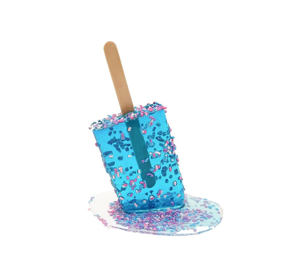 Betsy-enzensberger-blue-sprinkle-popsicle-resin-sculpture-affordable-art-gift