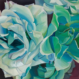 Green Floral Painting by artist Neena Buxani