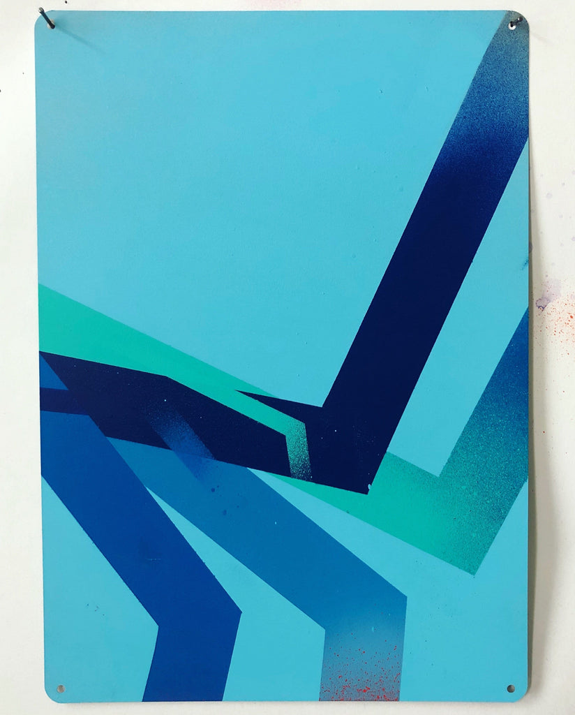 Seth Remsnyder, Variations on Blue 4 - Original Artwork